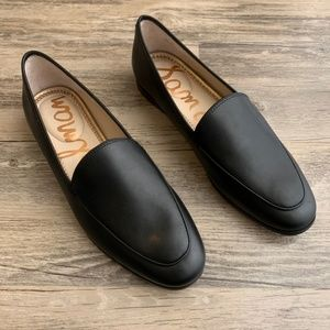 Sam Edelman Leon Black Leather Loafer Flat 7